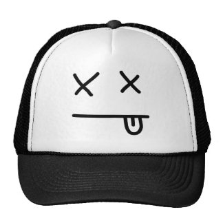 Passed Out Emoticon Mesh Hats