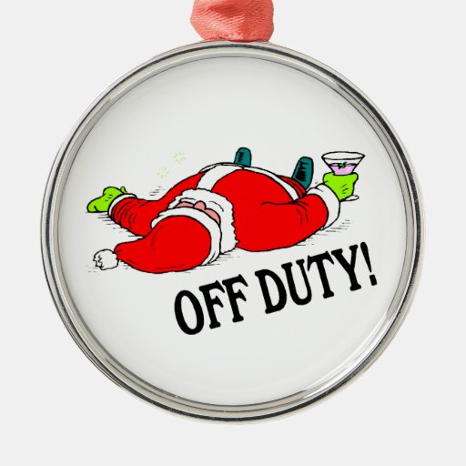 Passed Out Santa Claus Ornament