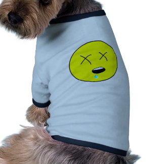 Passed Out Smiley Face Cartoon Pet Shirt