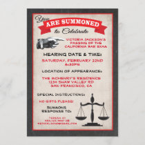 Passed the Bar Exam Law School Invitation Summons