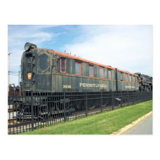 Passenger Car.  Strasburg Railroad. Postcard