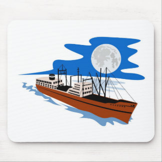 passenger cargo ship ocean liner boat retro mouse pads