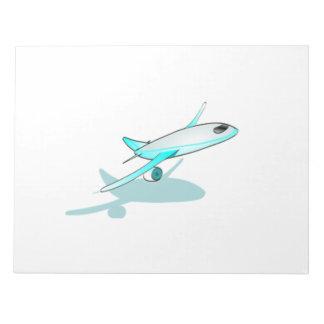 Passenger Jet Cartoon Memo Pad