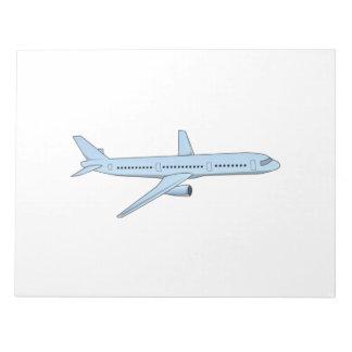 Passenger Jet Note Pads