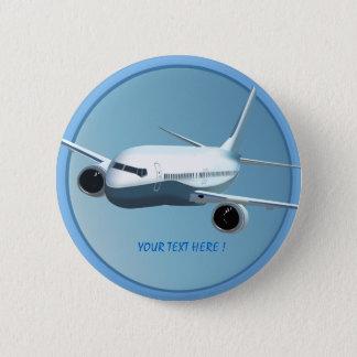 Passenger Jet  On  The Sky Button