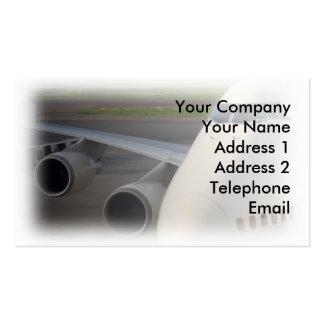 Passenger Jetliner on Tarmac Business Cards