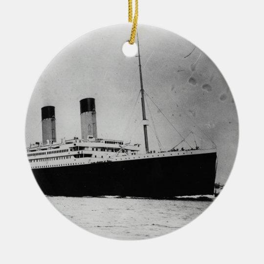 Passenger Liner Steamship RMS Titanic Ceramic Ornament