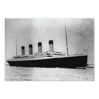 Passenger Liner Steamship RMS Titanic 3.5x5 Paper Invitation Card