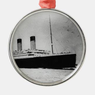 Passenger Liner Steamship RMS Titanic Metal Ornament