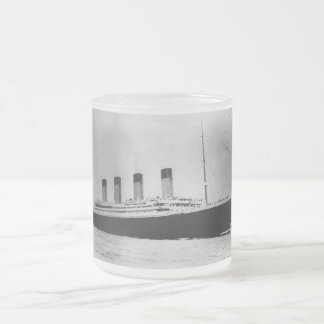 Passenger Liner Steamship RMS Titanic 10 Oz Frosted Glass Coffee Mug