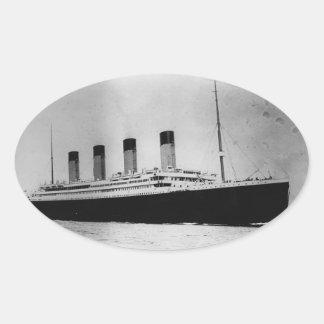 Passenger Liner Steamship RMS Titanic Oval Sticker