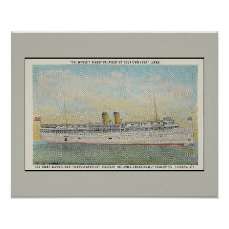 Passenger Liner The South American, Chicago Duluth Poster