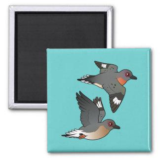 Passenger Pigeon Flight 2 Inch Square Magnet