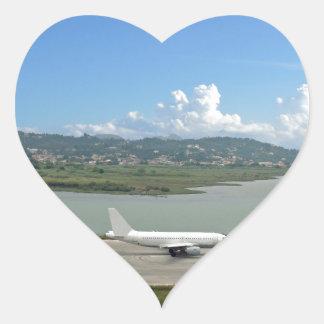 passenger plane heart sticker