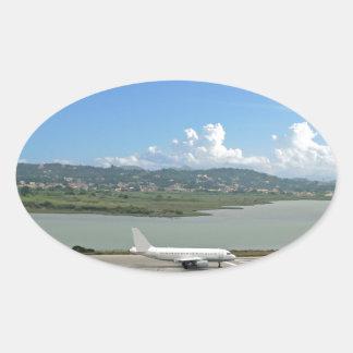 passenger plane oval sticker