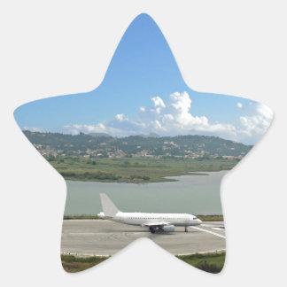 passenger plane star sticker