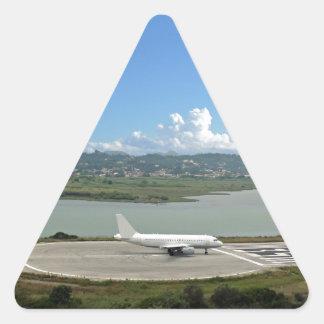 passenger plane triangle sticker