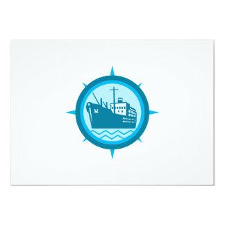 Passenger Ship Cargo Boat Retro Invitations