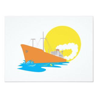 Passenger Ship Cargo Boat Retro Personalized Announcements