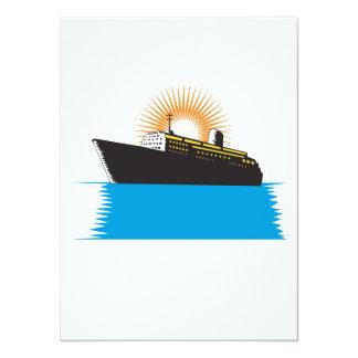 Passenger Ship Cargo Boat Retro Personalised Invites