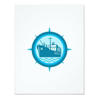 Passenger Ship Cargo Boat Retro Invites
