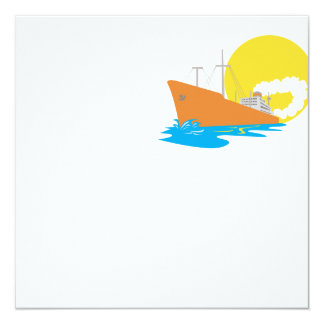 Passenger Ship Cargo Boat Retro Announcements