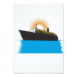 Passenger Ship Cargo Boat Retro Custom Invites