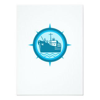 Passenger Ship Cargo Boat Retro Personalized Announcement