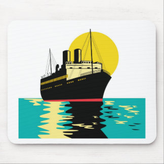 passenger ship ocean liner boat retro mouse pad