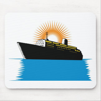 passenger ship ocean liner boat retro mouse pads