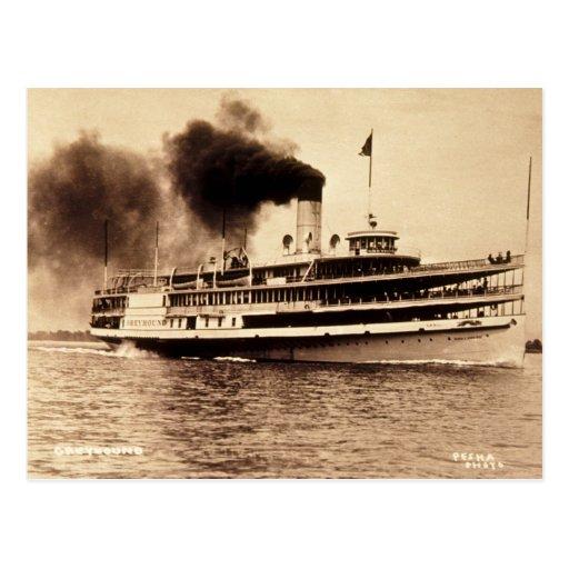 Passenger Steamer Greyhound - Louis Pesha Postcard