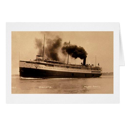 Passenger Steamer Juniata - Louis Pesha Card