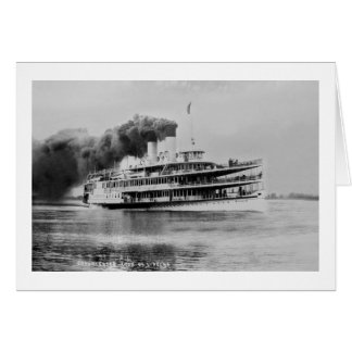 Passenger Steamer Tashmoo Great Lakes  Louis Pesha Card