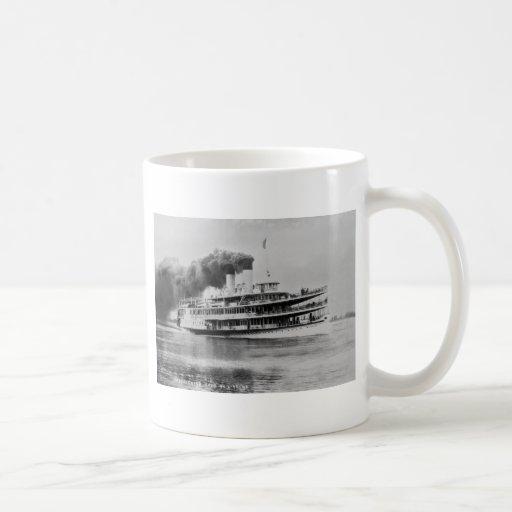 Passenger Steamer Tashmoo Great Lakes  Louis Pesha Classic White Coffee Mug