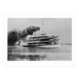Passenger Steamer Tashmoo Great Lakes  Louis Pesha Postcard