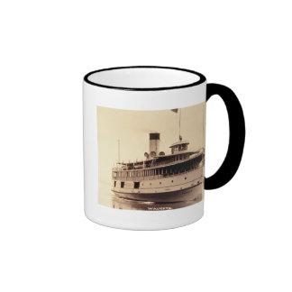 Passenger Steamer Wauketa Ringer Mug