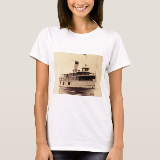 Passenger Steamer Wauketa Vintage Great Lakes T-Shirt