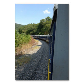 Passenger Train Around Bend Custom Flashcards Card