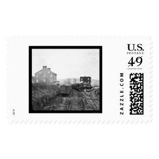 Passenger Train at Hanover Junction, PA 1865 Stamp