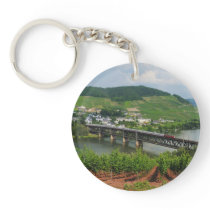 Passenger train in Bullay Keychain