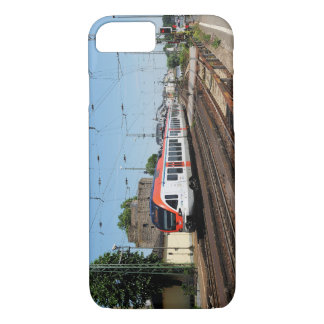 Passenger train in coarse home on the Rhine iPhone 8/7 Case