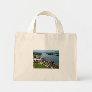 Passenger train in coarse home on the Rhine Mini Tote Bag