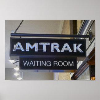 Passenger Train Waiting Room Poster