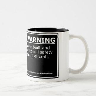 PASSENGER WARNING Two-Tone COFFEE MUG