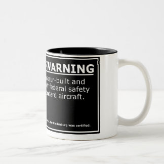 PASSENGER WARNING Two-Tone COFFEE MUG