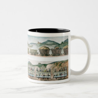 Passengers and freight the first French line Two-Tone Coffee Mug