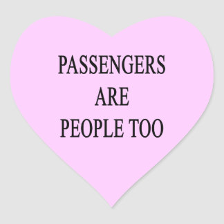 Passengers are People Too Sarcastic Travel Sticker