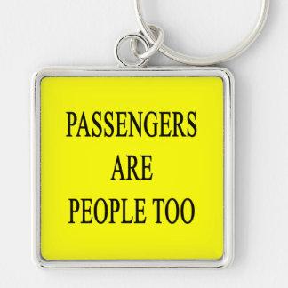 Passengers are People Travel Slogan Key Chain