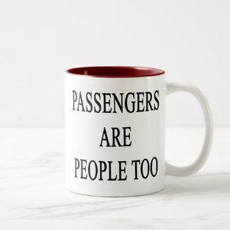 Passengers are People Travel Slogan Coffee Mugs