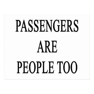 Passengers are People Travel Slogan Postcard